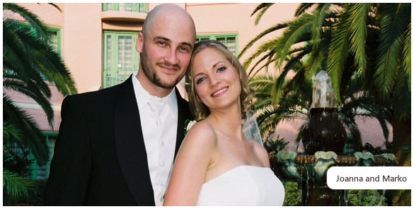 A photo of Joanna and Marko, now married.