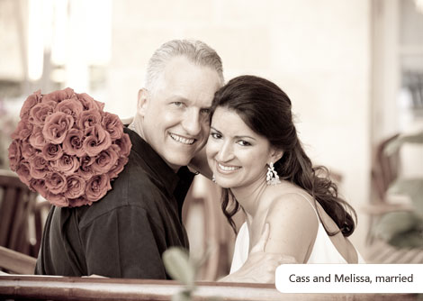 A photo of Cass and Melissa, now married.