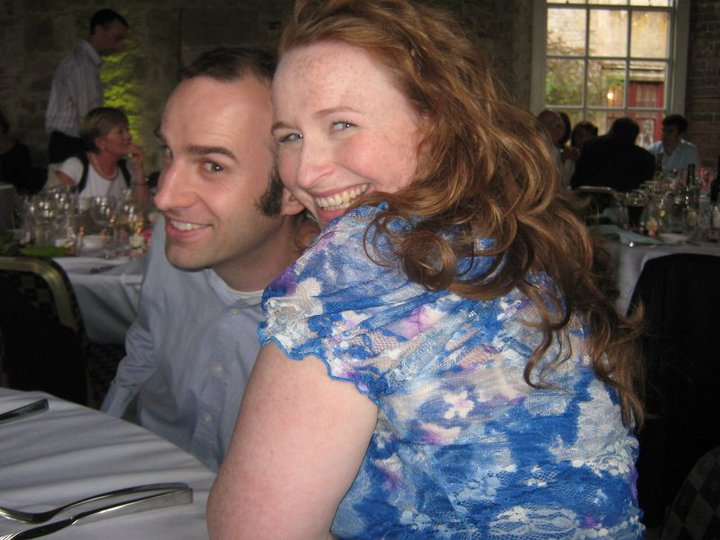 California Christian man smiling with Irish wife