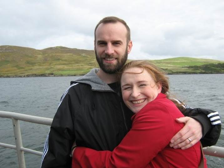 Christian couple married 12 years on boat tour in Ireland