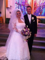 Alyssa and Bill on their wedding day