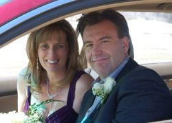 A very satisfied Alberta man smile as he drives away with his beautiful Christian wife