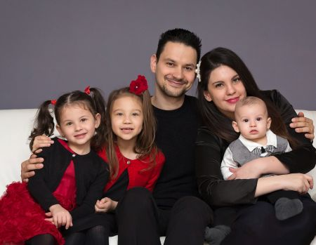 Balazs and Christina with their 3 children