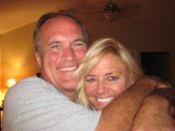 TN Christian single laughs while hugging a Colorado single Christian woman who smiles
