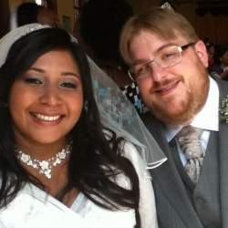 David married Bekky July 2012, in Trinidad and Tobago