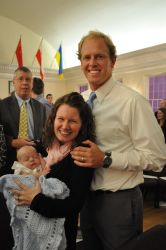 A beaming Beth and Zack with their Cafe baby!