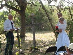 Christian Widow finds love online in this outdoor wedding shot