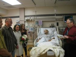 Bruce and Nadine were married in ICU in front of Dad