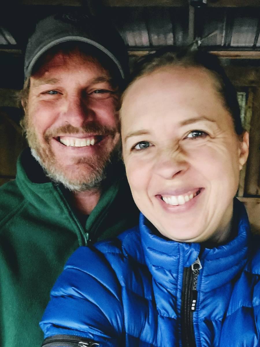 Smiling selfie for Christian couple