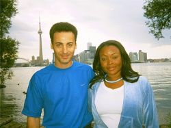 Attractive Christian interracial couple in Toronto by Lake Ontario