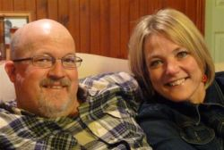 Colin and Sheryl lived a world apart but were married in November