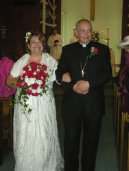 Christian single not too old to marry and walks down the aisle with her new husband