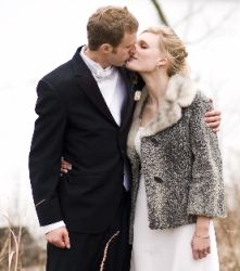 A man passionately kisses his Christian wife