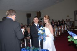 Danielle and Sam on their wedding day