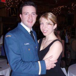 Christian pilot hugging  Alberta sweetheart