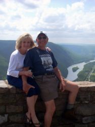 Darlene and Doug enjoying beautiful scenery