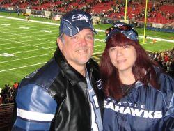 Christian couple at football game