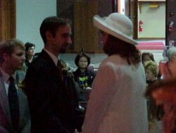 Christian couple Exchanging vows