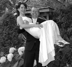 Groom catches bride