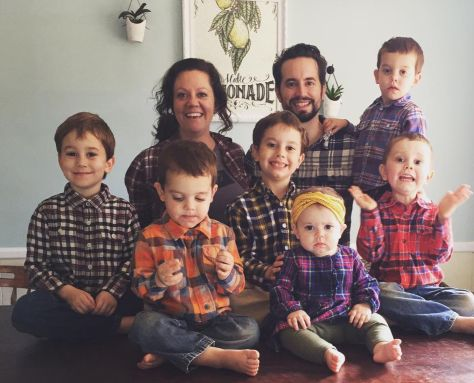 Proud former Christian singles now married and surrounded by lots of children