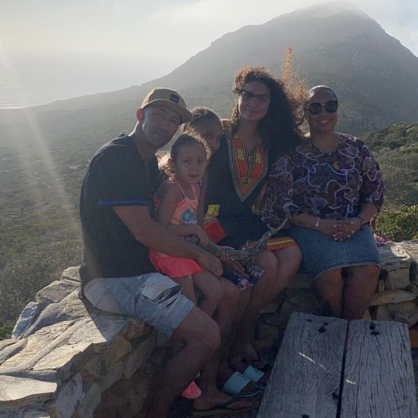Christian family at lookout in South Africa