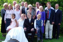 Large family for the happily married Christian couple