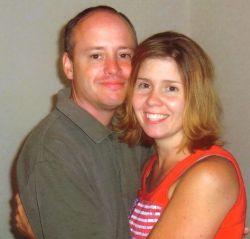 James and Cindy hug