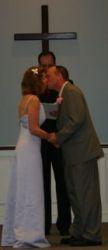 James and Cindy kiss