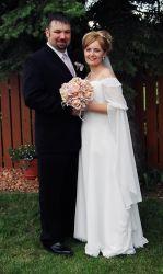 Born again Christians from Canada marry near a beautiful garden
