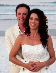 Beach wedding for Welsh man and American wife