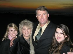 Jim and Marilyn with girls at sunset