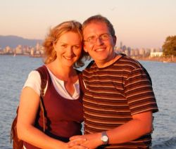 Beautiful Vancouver honeymoon for happy couple holding hands