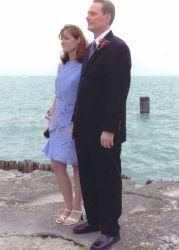 Illinois Christian man marries his love on the beach