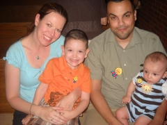 Kellie and Jon with Jamie and Kaden