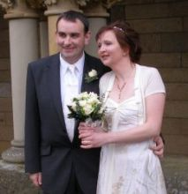 UK Christians marry and stand outside arm in arm