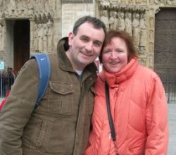 ex-single Christians look very comfortable together on a cold day sight seeing