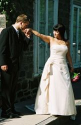 Kissing the bride's hand