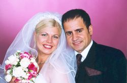 Kees with his wife on their wedding day