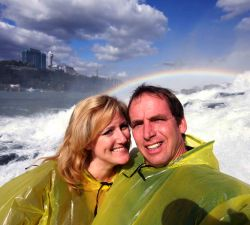 Christian honeymoon at Niagara Falls on the Maid of the Mist