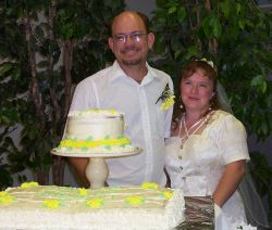 Very happy Texas Christian singles no longer single as they pose on their wedding day