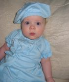 What a cute baby in blue!