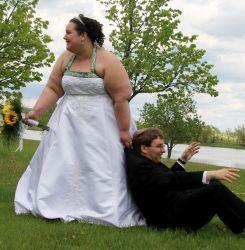 Bride drags off her groom