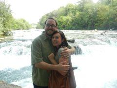 Jeff and Lauren pose in beautiful scenery