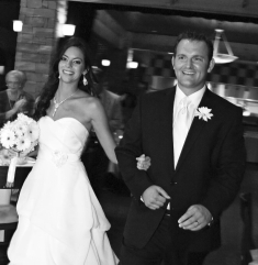 Greg and Lindsey full of smiles after being married
