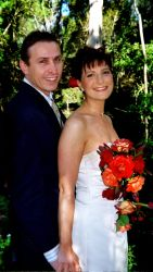 Australian Christian couple look very happy together, all dressed up