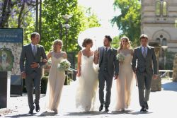 A wonderful picture of their wedding party