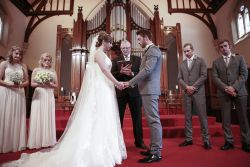 Maria and Josh at their wedding ceremony