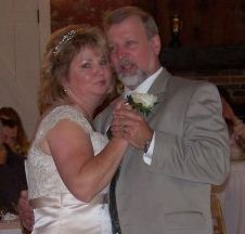 Massachusetts Divorced Christians find love and are shown dancing closely on their wedding day
