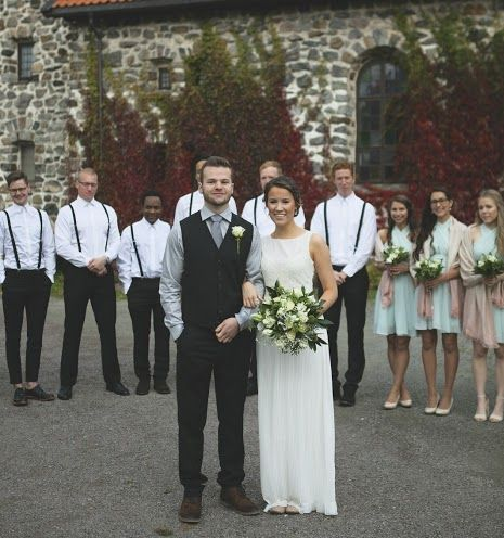 Matt and Ina with their wedding party
