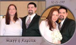 Collage of lovely Christian soulmates on their wedding day